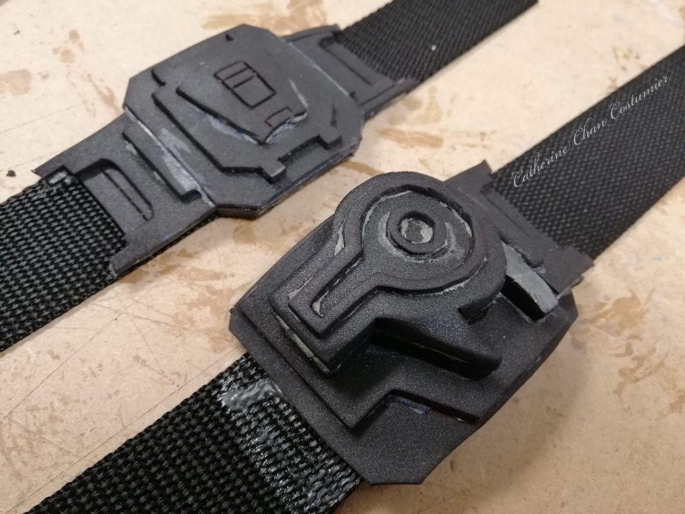 Belt buckles made from EVA foam